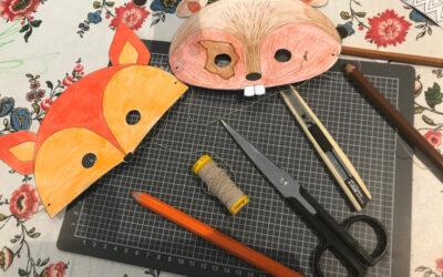 Tiermasken basteln mit und für Kids